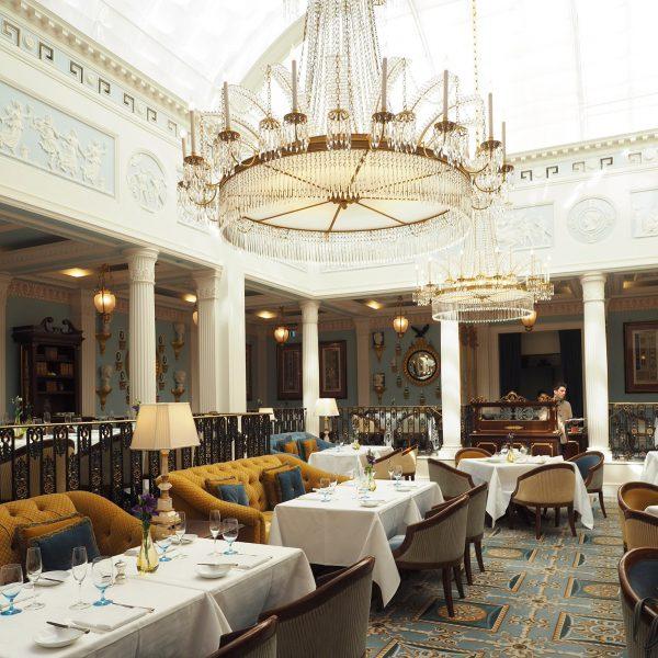 Celeste Restaurant London White Tableclothes